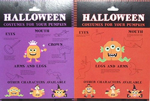 Pumpkin-Decor-Kit-Push-In-No-Carving-for-Fall-Halloween-Thanksgiving-2pk-Princess-Monster-0-0