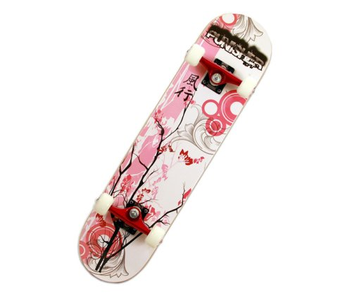 Punisher-Cherry-Blossom-Complete-Skateboard-Red-31-Inch-0
