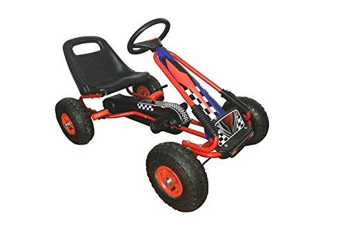 Racing-Pedal-Go-Kart-w-Pneumatic-Tire-Blue-0