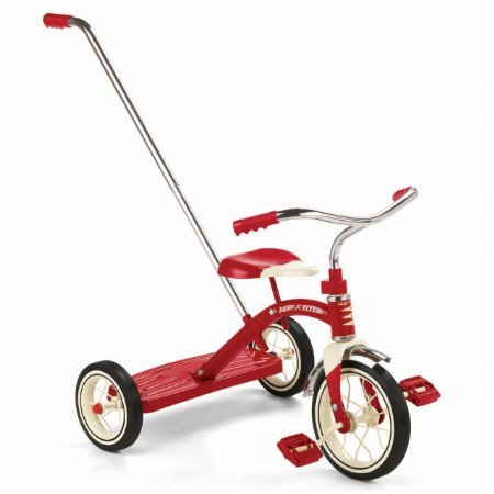 Radio-Flyer-Classic-Red-10-Tricycle-with-Push-Handle-0-0