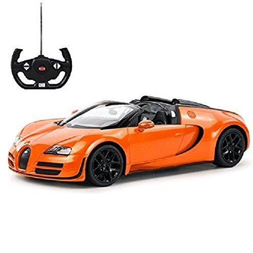 radio remote control 1 14 bugatti veyron 16 4 grand sport vitesse licensed rc model car orange. Black Bedroom Furniture Sets. Home Design Ideas