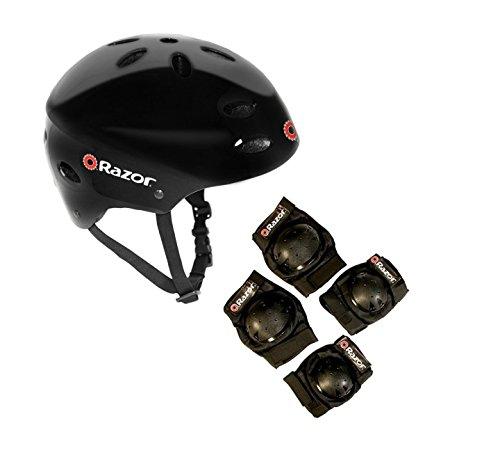Razor V17 Youth Skateboard \/ Scooter Sport Helmet w\/ Knee \u0026 Elbow Pads Set  Hobby Leisure Mall