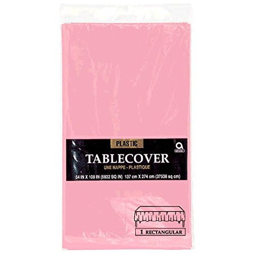 Rectangular-Plastic-Table-Cover-Birthday-Party-Tableware-Decoration-1-Piece-New-Pink-54-x-108-0