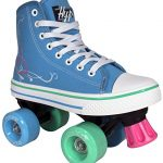 Roller-Skates-for-Girls-HYPE-Pixie-Kids-Quad-Roller-Skates-with-High-Top-Shoe-Style-for-Indoor-Outdoor-Skating-Durable-Easy-to-Skate-Made-for-Kids-Blue-Pink-0-2