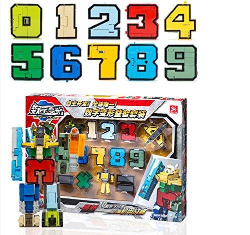 SSJ-Kids-Children-Educational-Toys-Magic-Number-Combined-Robot-Transformers-Robots-15-pieces-Set-0-0