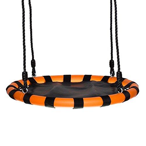 Swinging Monkey Products 24 Fabric Spinner Swing Black