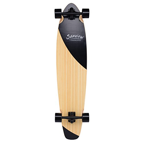 Sanview-Bamboo-Drop-Through-Longboard-Skateboard-Cruiser-0-1