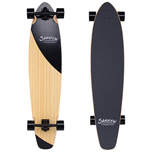 Sanview-Bamboo-Drop-Through-Longboard-Skateboard-Cruiser-0