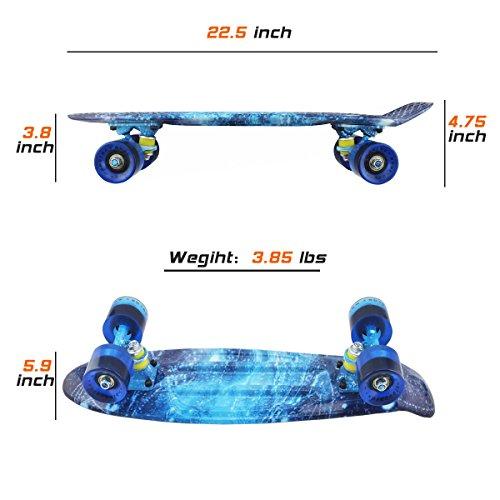 Skateboards-Complete-22-Inch-Mini-Cruiser-Retro-Skateboard-for-Kids-Boys-Youths-Beginners-0-1