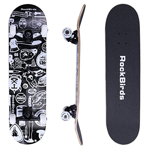Skateboards-RockBirds-31-Pro-Complete-Skateboard-7-Layer-Canadian-Maple-Skateboard-Deck-for-Extreme-Sports-and-Outdoors-0