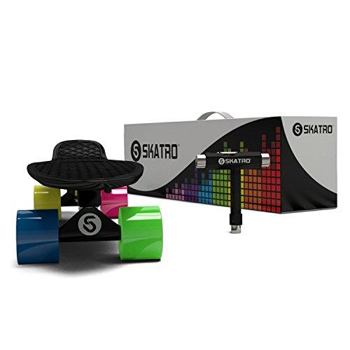 Skatro-Mini-Cruiser-Skateboard-22x6inch-Retro-Style-Plastic-Board-Comes-Complete-0-0