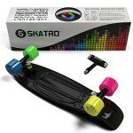 Skatro-Mini-Cruiser-Skateboard-22x6inch-Retro-Style-Plastic-Board-Comes-Complete-0-2