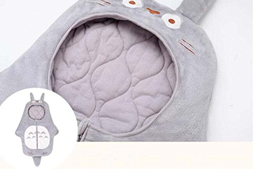 Sport-do-Infant-Cartoon-Grey-Totoro-Super-Soft-Flannel-Sleeping-Bag-Winter-Autumn-New-born-Anti-kicking-Warm-Hugging-Quilt-Baby-Pure-Cotton-Thicken-Blanket-0-2