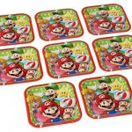 Swank-Super-Mario-Brothers-Birthday-Party-Square-Dessert-Paper-Plates-0-0