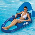 SwimWays-Spring-Float-Recliner-Pool-Lounge-Chair-w-Sun-Canopy-0-1
