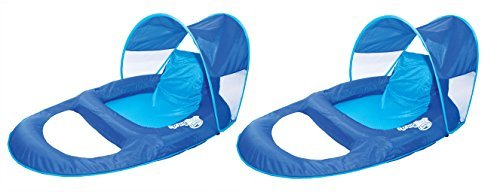 SwimWays-Spring-Float-Recliner-Pool-Lounge-Chair-w-Sun-Canopy-0