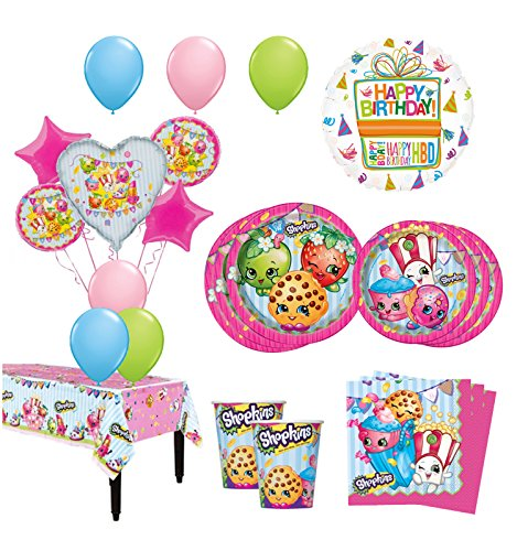 The ultimate 8 guest 53pc shopkins birthday party supplies for Balloon decoration kit