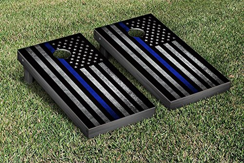 Thin-Blue-Line-Police-Themed-Cornhole-Game-Set-0