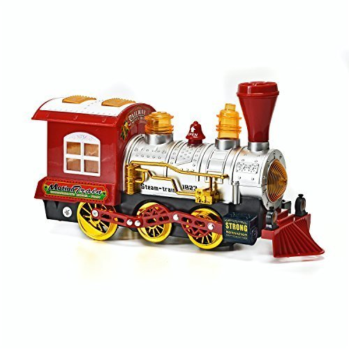 Toy-Steam-Train-Locomotive-Car-w-Lights-Sounds-Steam-Bubbles-Battery-Powered-Bump-N-Go-Motion-by-Brunfen-Toys-0-0