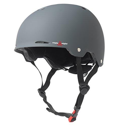 Triple-8-Gotham-Dual-Certified-Rubber-Bike-Skateboard-Helmet-w-Protective-Pads-0-0