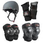 Triple-8-Gotham-Dual-Certified-Rubber-Bike-Skateboard-Helmet-w-Protective-Pads-0