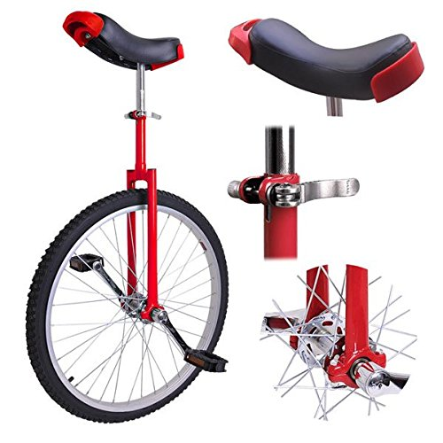 Triprel-Inc-Professional-24-Inch-Wheel-Performance-Trick-Unicycle-RED-0-0