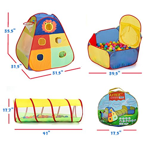 Utex Jungle Gym Kids Tents W Basketball Hoop Tunnels
