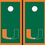 University-of-Miami-Green-Matching-Border-Cornhole-Boards-0-0
