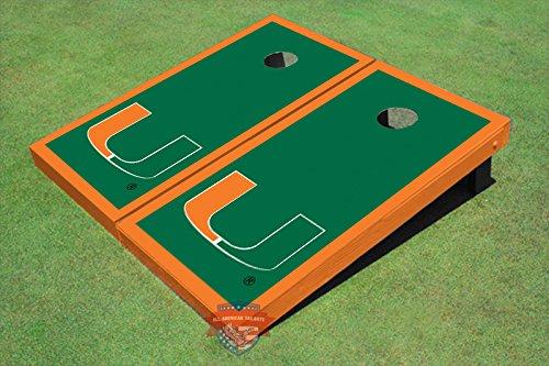 University-of-Miami-Green-Matching-Border-Cornhole-Boards-0