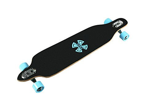WiiSHAM-42-Inches-Professional-Speed-Downhill-Drop-Through-Complete-Longboard-Skateboard-With-Free-T-tools-0-1