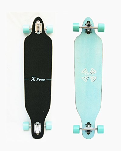 WiiSHAM-42-Inches-Professional-Speed-Downhill-Drop-Through-Complete-Longboard-Skateboard-With-Free-T-tools-0