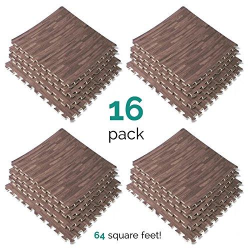 Wood-Grain-Utility-Floor-Set-Interlocking-Anti-Fatigue-EVA-Foam-Mat-with-Borders-0-1