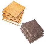 Wood-Grain-Utility-Floor-Set-Interlocking-Anti-Fatigue-EVA-Foam-Mat-with-Borders-0