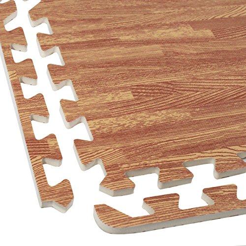 Wood-Grain-Utility-Floor-Set-Interlocking-Anti-Fatigue-EVA-Foam-Mat-with-Borders-0-2