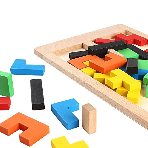 YBB-Wooden-Tetris-Puzzle-Wood-Jigsaw-ToyEducational-Game-40-Pieces-0-0