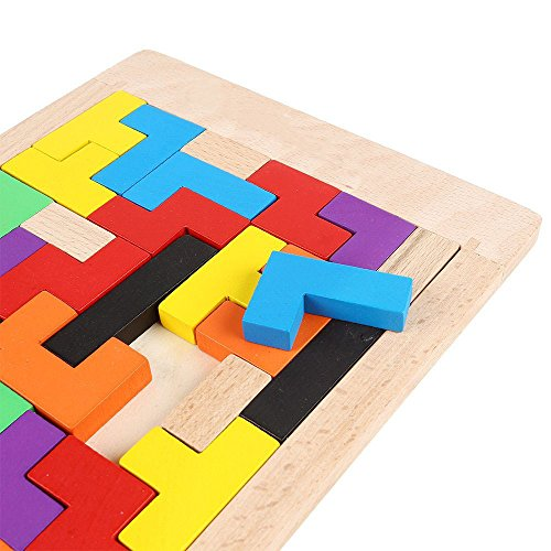 YBB-Wooden-Tetris-Puzzle-Wood-Jigsaw-ToyEducational-Game-40-Pieces-0-2