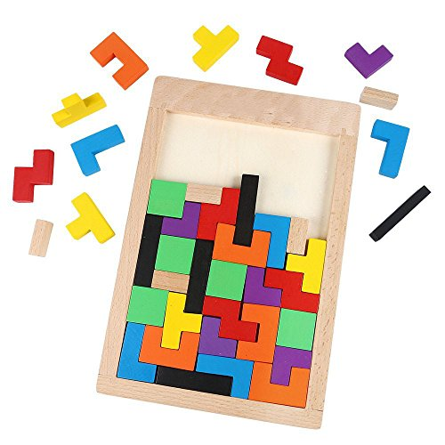 YBB-Wooden-Tetris-Puzzle-Wood-Jigsaw-ToyEducational-Game-40-Pieces-0