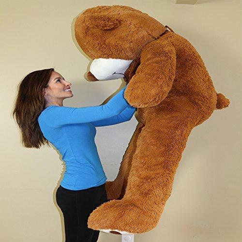 Yesbears-Giant-Teddy-Bear-5-Feet-Brown-Microfiber- Yesbears Giant Teddy Bear 5 Feet Brown Microfiber Bowtie \u0026 Face