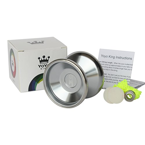 Yoyo-King-Ghost-Bimetal-Aluminum-and-Steel-Professional-Yoyo-with-Ball-Bearing-Axle-and-Extra-String-0-0