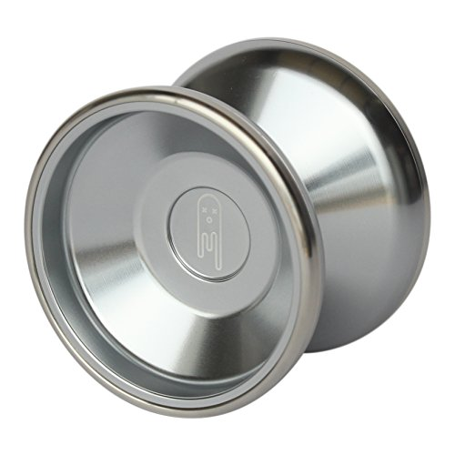 Yoyo-King-Ghost-Bimetal-Aluminum-and-Steel-Professional-Yoyo-with-Ball-Bearing-Axle-and-Extra-String-0