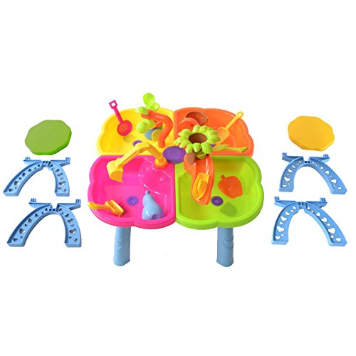 boppi-4-Section-Childrens-Sand-and-Water-Table-with-13-Play-Accessories-2-Stools-0-0