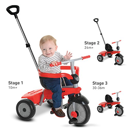 smarTrike-Breeze-3-in-1-Baby-Tricycle-Red-0-0