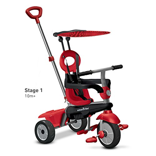 smarTrike-Zoom-4-in-1-Baby-Tricycle-Red-0-1