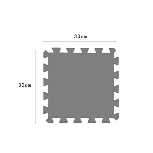 Yazi Fuzzy Area Rug Puzzle Play Mats Set Of 9 Tiles Light